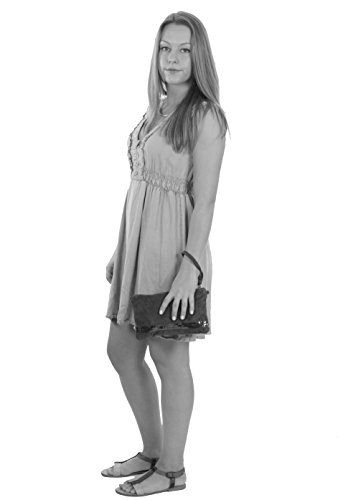histoireDaccessoires - Clutch de Cuero de Mujer - PO095921U-Romeo Beige