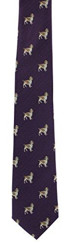 Dog Gun Tie Dog Silk Purple Gun qq7ZxwT0