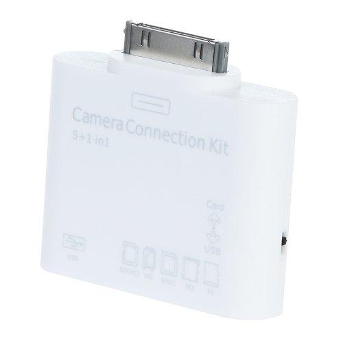 Kingzer 5 in 1 USB SD/TF Card Reader Camera Connection Kit for iPad iPad 2 iPad 3 from KINGZER