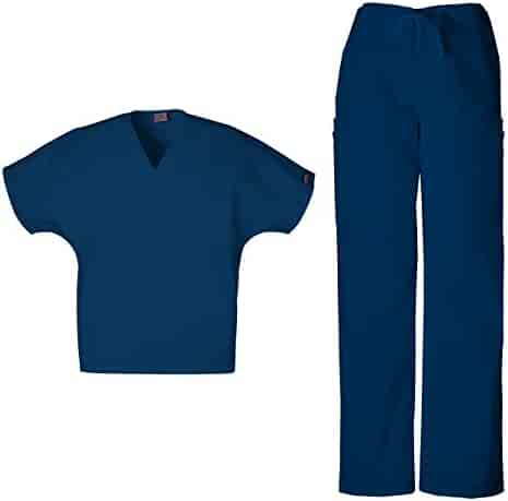 7be615b0eb8 Cherokee Mens Workwear Scrub Set Medical/Dentist Uniform V-Neck Top & Cargo  Pant
