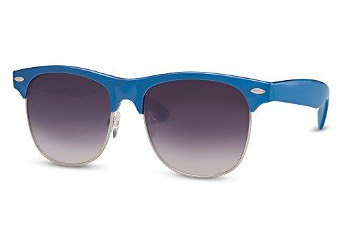 Mujer Clubmaster Gafas 022 de Espejados Variación Retro Cheapass Hombre Azul Ca Sol UtdYYq