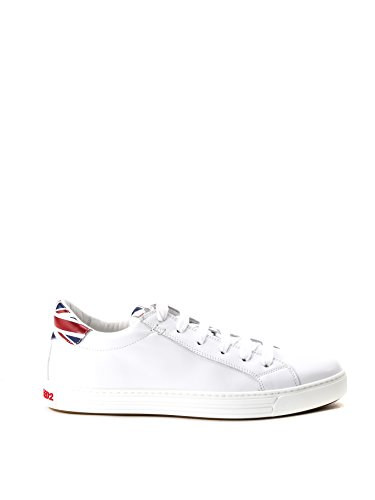 DSQUARED2 HOMME SN103409M825 BLANC CUIR BASKETS