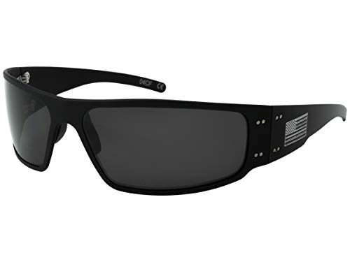Gatorz AM-MAGBLK01P Patriot - Magnum Sunglass Patriot - Magnum, Black - American Flag Frame, Smoked Polarized Lens