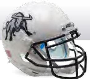 Schutt Utah State Aggies Mini XP Authentic Helmet Aggie - Licensed NCAA ()