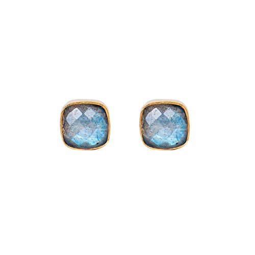 Labradorite Cushion Studs