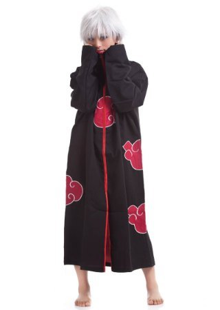 Japanese Anime Cosplay Costumes NARUTO Cloak Akatsuki Ninja Uniform Ferret Clothes...
