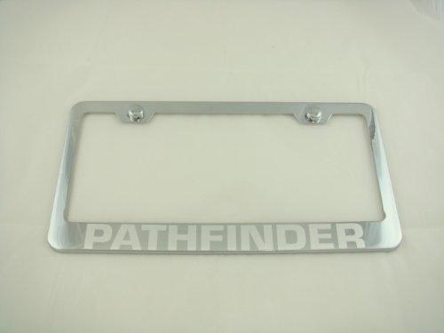 License Nissan Frame Plate Pathfinder - Nissan Pathfinder Chrome License Plate Frame with Caps