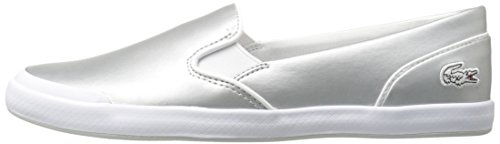 Lacoste Women's Lancelle Slip on 117 2 Fashion Sneaker, Light Grey, 7.5 M US