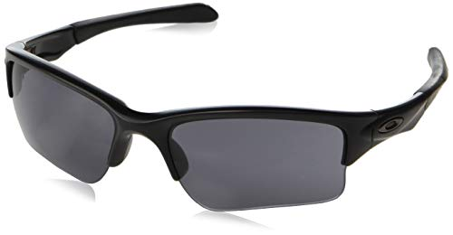 Oakley Youth Boys OO9200 Quarter Jacket Rectangular Sunglasses, Matte Black/Grey, 61 ()