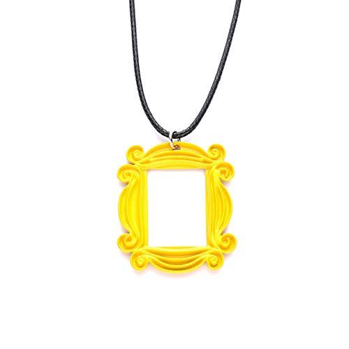 Friends Frame - Blingsoul Friends Necklace TV Show - Friends Peephole Picture Frame Merchandise Gifts for Women