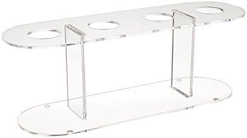 Winco ACN-4 Acrylic 4-Hole Ice Cream Cone Stand