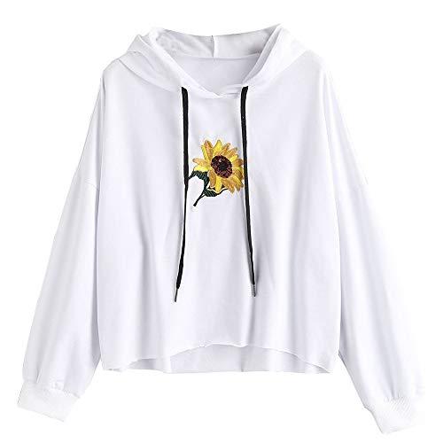 Londony Fashion Sweatshirts in Women Daisy Print Hoodie