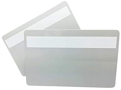 Tarjetas de plástico gris con firma quemador | 1 - 100 ...