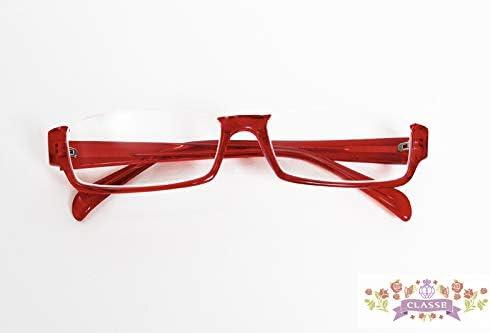コスプレ向け 選べる13種の 伊達メガネオーバル細フチ 赤