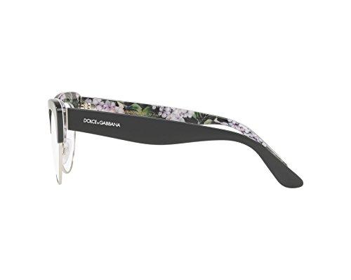 ... Dolce   Gabbana - Monture de lunettes - Femme Gris dunkel grau -  bedruckt grün 53 ... db3662706708