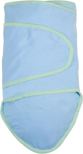 Miracle Blanket Baby Swaddle, Yellow with Aqua Trim