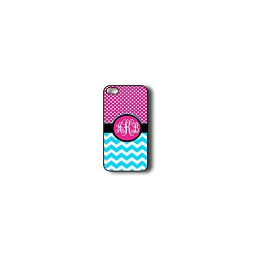 Krezy Case Monogram iPhone 6 Case, Colorful Chevron Pattern with polka dots Monogram iPhone 6 Case, Monogram iPhone...