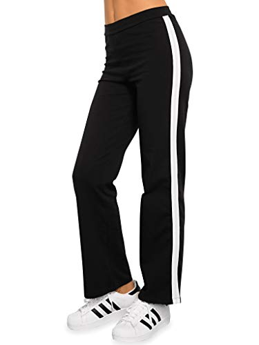 Blue Canoe Organic Cotton Black Track Pant W White Side Stripe ()