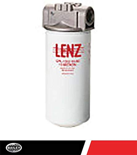 Lenz Spin-On Filter Assembly CPL-1280-10-P-50: 10 Micron, 150 PSI, 60 GPM, 1 1/4'' NPTF Port, 15 PSI Bypass Without Indicator Ports, 221054 by LENZ