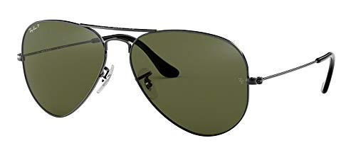 Ray Ban RB3025 004/58 58M Gunmetal/Polarized Green ()