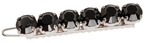 L. Erickson Stepping Stone on Tige Boule - Jet Hematite/Silver