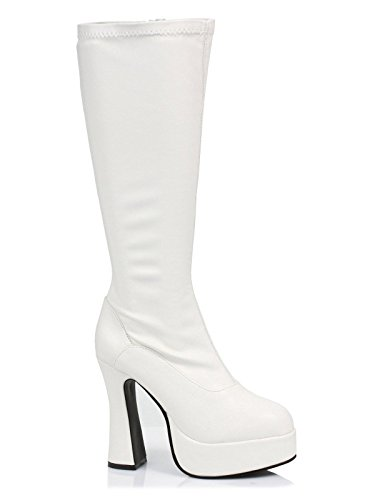 Ellie Shoes Women's Chacha Boot, White, 7 M US