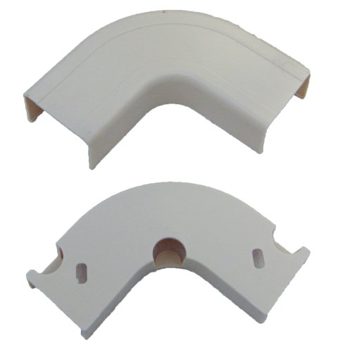 3/4 inch Surface Mount Cable Raceway, White, Flat 90 Degree - Cover Fitting Joint Raceway