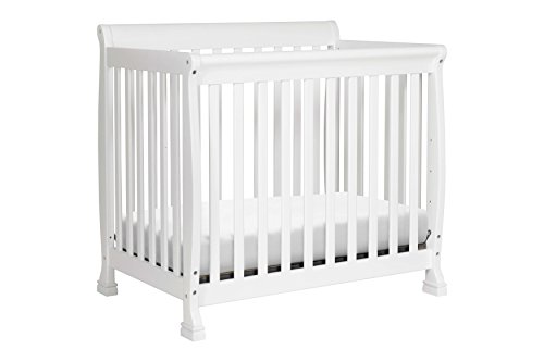 DaVinci Kalani 2-in-1 Mini Crib and Twin Bed In White Finish by DaVinci