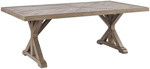 Beachcroft Outdoor Farmhouse Beige Dining Table