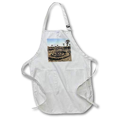 (3dRose Danita Delimont - Namibia - Africa, Namibia, Keetmanshoop. Rock Spiral and Quiver Tree Forest. - Full Length Apron with Pockets 22w x 30l (apr_310465_1))