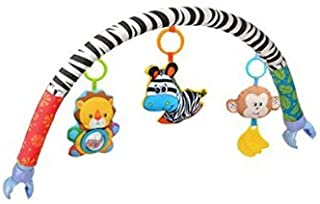 Dasuke, gioco per neonati ad arco in morbido peluche, da agganciare al letto, alla culla, alla carrozzina o al passeggino, con sonagli appesi a forma di animali