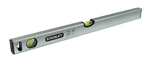 Stanley Wasserwaage Klassik, 60 cm Länge, magnetisch, schlagfeste Blocklibelle, große Seitenlibelle, STHT1-43111