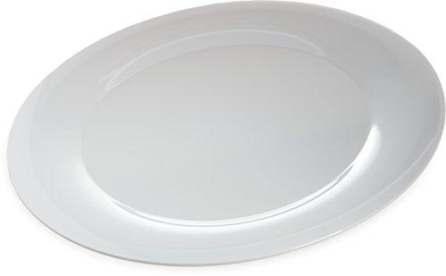 Carlisle 4440602 Designer Displayware Melamine Wide Rim Round Platter, 19