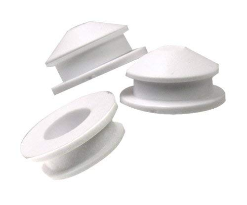 National Artcraft White PVC Stopper Or Plug fits 3/4 Inch Round x 3/16 Inch Deep Opening (Pkg/10)