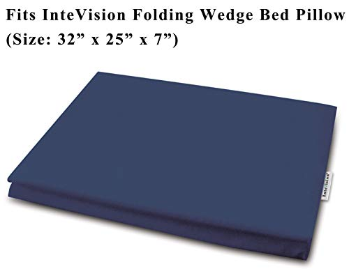 """InteVision 400 Thread Count, 100% Egyptian Cotton Pillowcase. Designed to Fit The InteVision Folding Wedge Bed Pillow (32"""" x 25"""" x 7"""")"""