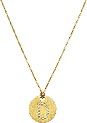 Roberto Coin Women's Tiny Treasures 18K Yellow Gold Initial D Pendant Necklace Yellow Gold One Size (Necklace 18k Diamond Coin Roberto /)