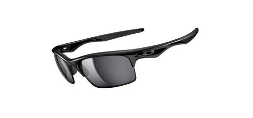 Oakley Men's OO9164 Bottle Rocket Rectangular Sunglasses, Polished Black/Black Iridium Polarized, 62 mm