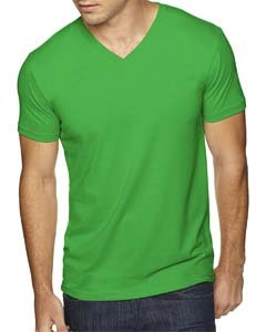 Next Level Apparel 6440 Mens Premium Fitted Sueded V-Neck Tee - Envy, -