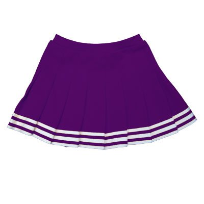 Youth Cheerleader Outfit 2 Piece (Cheerleading Company Elastic Waist Knife Pleat Skirt (Purple, Adult 2 Extra Large))