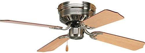 42 Hugger Ceiling Fan in Brushed Nickel