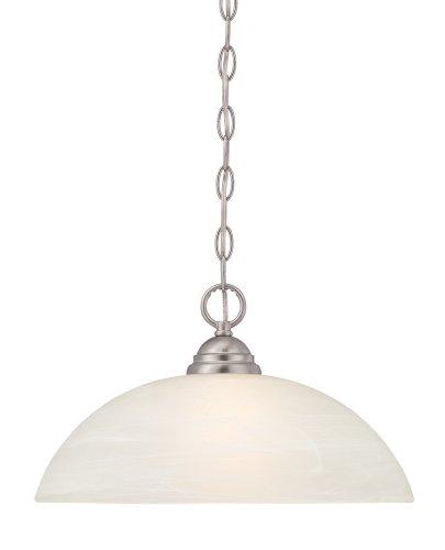 Light Pendant Satin One Platinum - Designers Fountain 85132-SP Kendall Down Pendant, Satin Platinum
