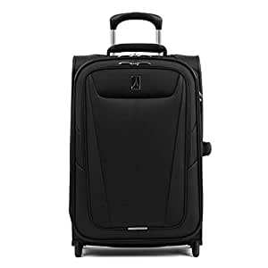 """Travelpro Maxlite 5 22"""" Expandable Rollaboard Carry-on Suitcase, Black (Black) - 401172201"""