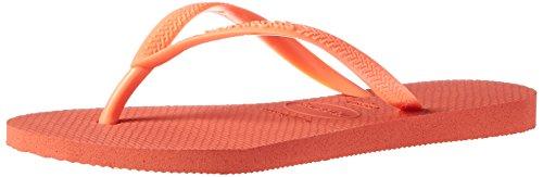 Havaianas Women's Slim Sandal,Orange Cyber,37/38 BR (7-8 M - Orange Havaianas
