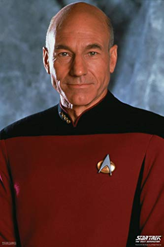 Tng Poster - Pyramid America Laminated Star Trek The Next Generation Captain Picard TV Show Sign Poster 12x18 inch