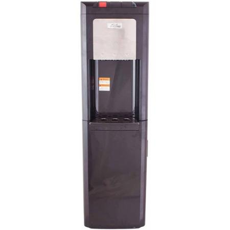 Glacial Taller Black Top-Load Water Dispenser Water Cooler with Refrigerator Bottom by BLOSSOMZ