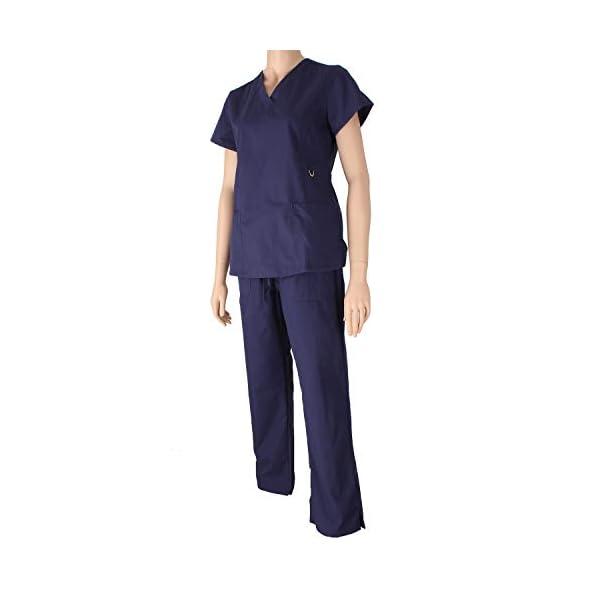 MISEMIYA Medical Uniform Scrub Top Camisa de Sanitario Unisex Adulto 6