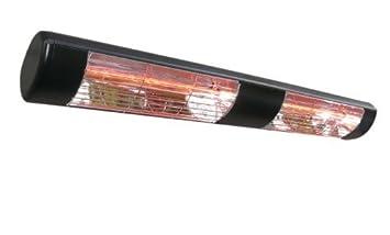 Lampada riscaldante elettrica alogena e ad infrarossi da patio