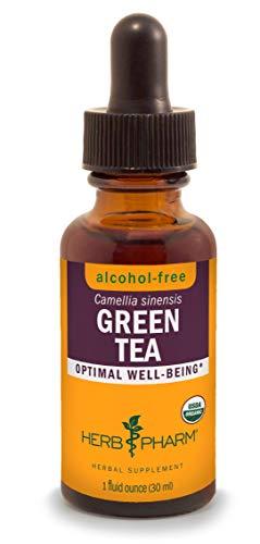 Herb Pharm Certified Organic Alcohol-Free Green Tea Liquid Glycerite - 1 Ounce