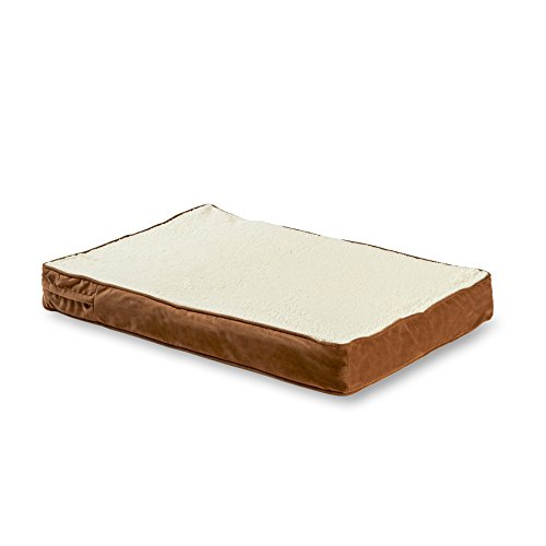 Happy Hounds Oscar Orthopedic Dog Bed, Large 36 by 48-Inch, Birch