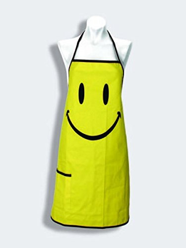 Spoontiques Smiley Face Apron, Yellow